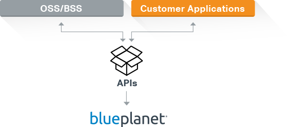 Diagram of Blue Planet's Open APIs