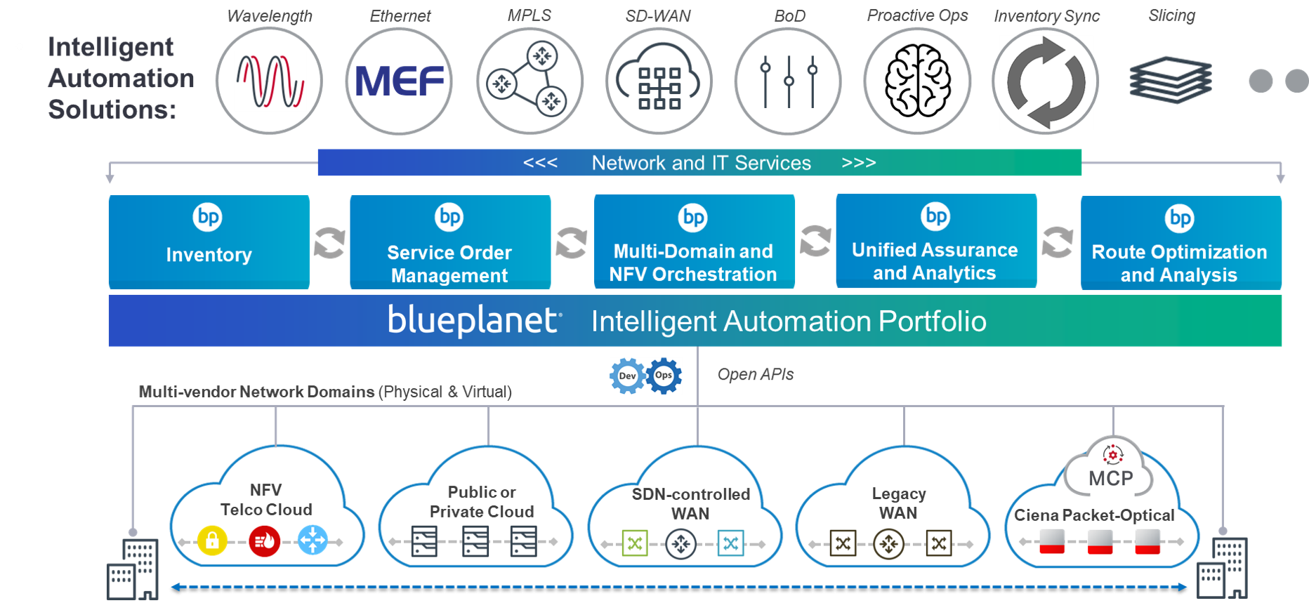 Blue Planet Product Offerings Diagram